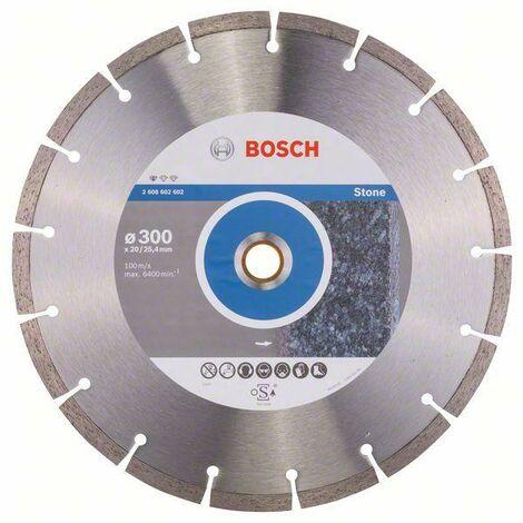 Bosch Disque à tronçonner diamanté Standard for Stone, 300 x 20,00+25,40 x 3,1 x 10 mm - 2608602602