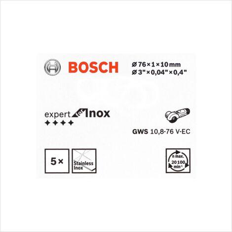 Bosch Disque à tronçonner Expert for Inox 5 Pièces 76 mm pour GWS 10,8-76 / 12V-76 ( 2608601520 )
