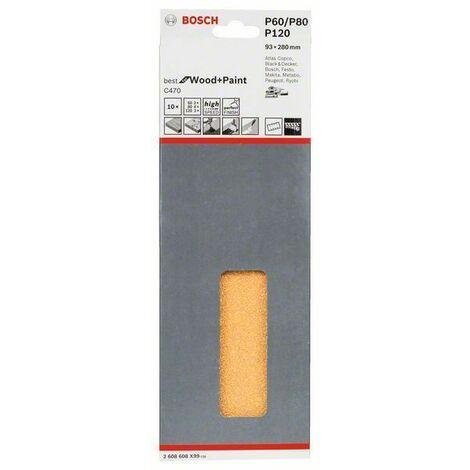 Bosch Disque abrasif C470, pack de 10 93 x 230 mm, 3 x 60; 4 x 80; 3 x 120