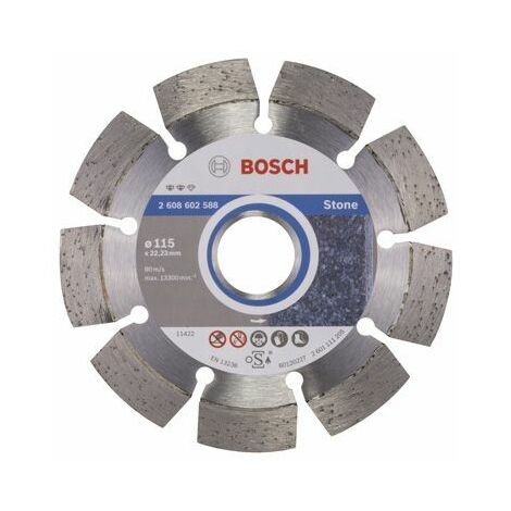 Bosch 2608602588 Disque /à tron/çonner diamant/é expert for stone 115 x 22,23 x 2,2 x 12 mm