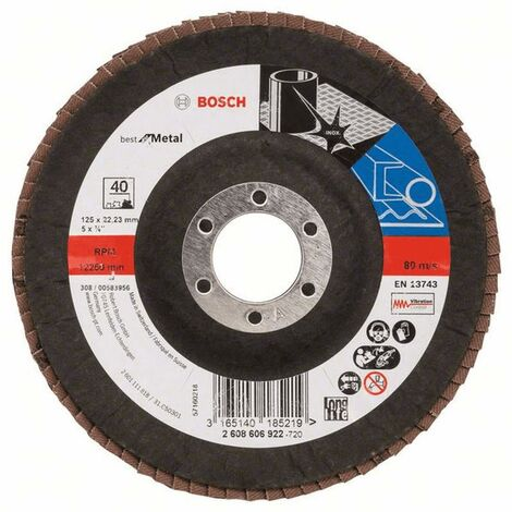 Bosch Disques abrasifs Best for Metal incliné X571 125x22,23 Grain 120