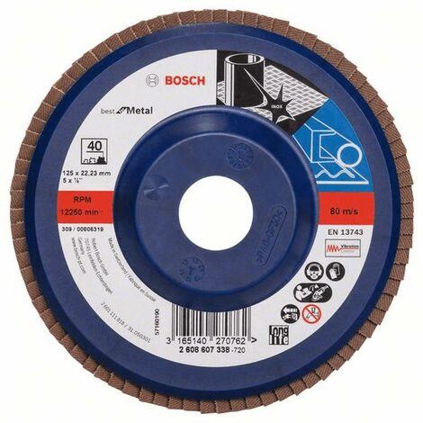 Bosch Disques abrasifs Best for Metal tout droit X571 125x22,23 Grain 120