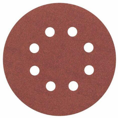 BOSCH Disques abrasifs C430 pour ponceuse excentrique - 8 trous - Pack de 5 - Ø 125 mm - Grain 240