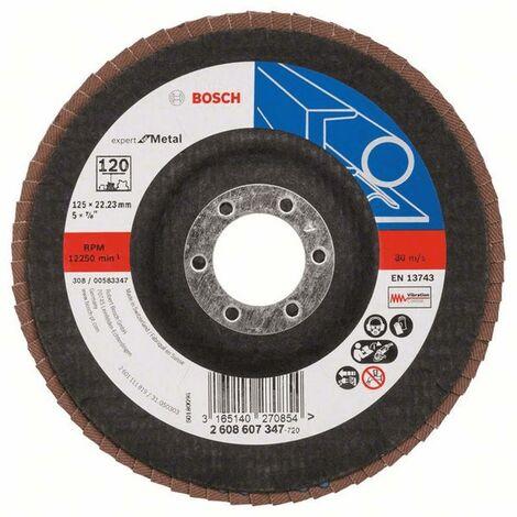Bosch Disques abrasifs Expert for Metal incliné X551 125x22,23 Grain 120