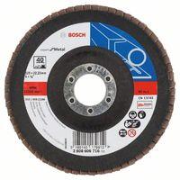 Bosch Fächerschleifscheibe X551, Expert for Metal, gewinkelt, 125 mm, 40, Glasgewebe 2608606716