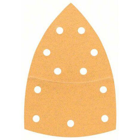 BOSCH Feuille abrasive pour ponceuse Multi avec bande auto-agrippante - Perforé - Grain 80 - 102 mm x 62