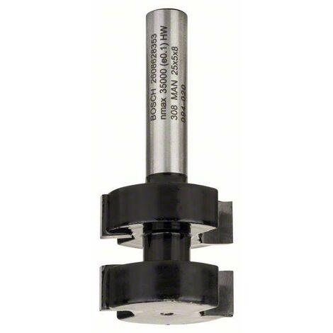 Bosch Fraise à bouveter 8 mm, D1 25 mm, L 5 mm, G 58 mm
