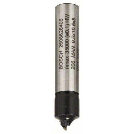 Bosch Fraise à moulurer 1/4 de rond 8 mm, R1 3,2 mm, D 9,5 mm, L 10,2 mm, G 41 mm