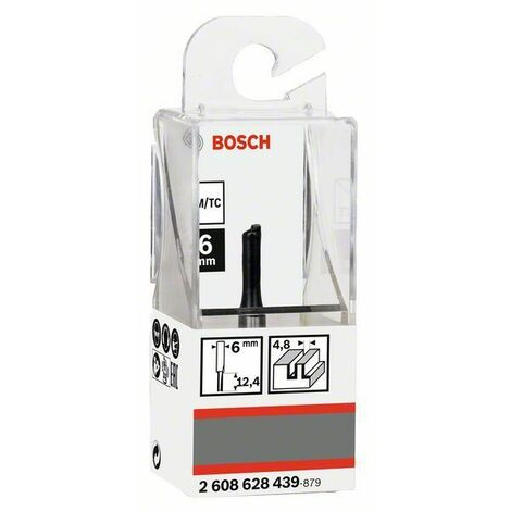Bosch Fraise à rainurer droit 6 mm, D1 4,8mm, L 12,4mm, G 51mm - 2608628439
