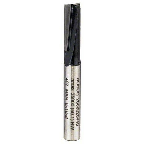 Bosch Fraise à rainurer droit 6mm, D1 19mm, L 19,58mm, G 51mm - 2608628440
