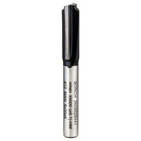 Bosch Fraise à rainurer droit 6mm, D1 8mm, L 19,5mm, G 51mm - 2608628441