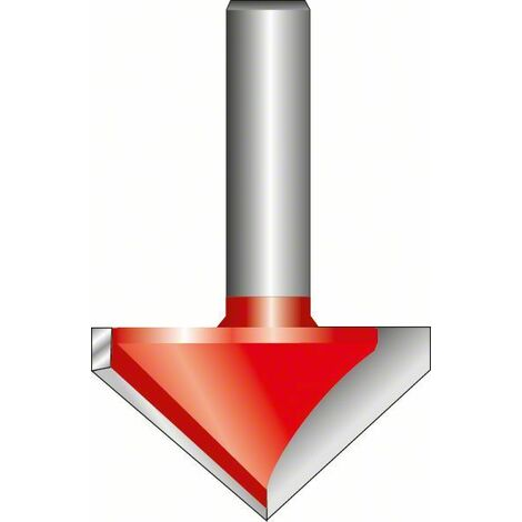 Bosch Fraise à rainurer droit en V 8 mm, D 31,8 mm, L 19 mm, G 51 mm, 90°