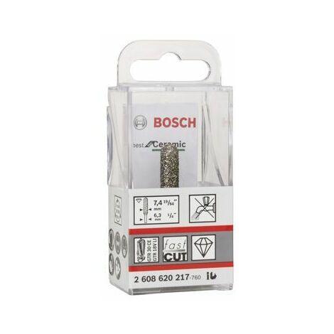 Bosch Fraise diamantée Best for Ceramic 6,35 mm, D 7,4 mm, L 35