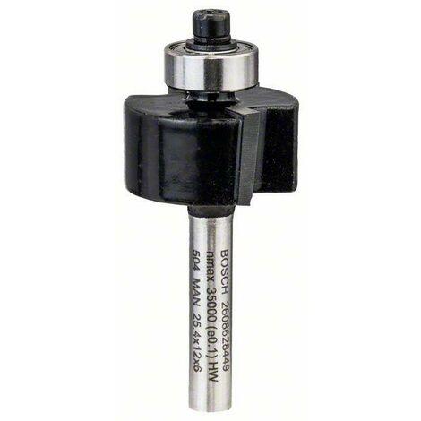 Bosch Fraises à feuillurer 6mm, D1 25,4mm, L 12,4mm, G 54mm - 2608628449