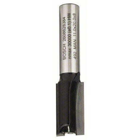 Bosch Fraises à rainurer droit 8 mm, D1 11 mm, L 20 mm, G 51 mm