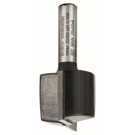 Bosch Fraises à rainurer droit 8 mm, D1 25 mm, L 20 mm, G 51 mm