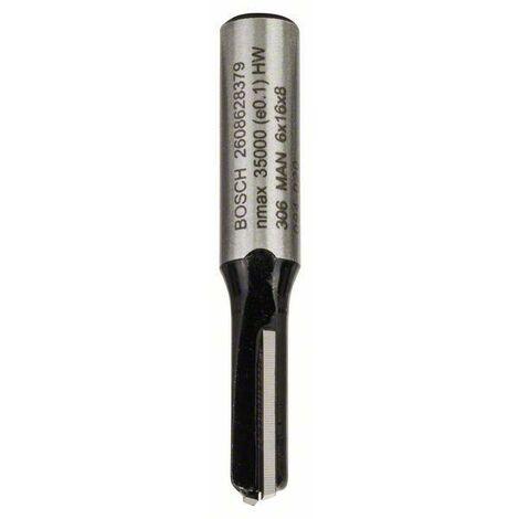 Bosch Fraises à rainurer droit 8 mm, D1 6 mm, L 16 mm, G 48 mm