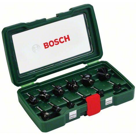 """Bosch Fraises carbure, jeu de 12 pièces (queue de Ø 1/4"""")"""