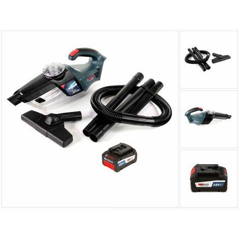 Bosch GAS 18V-1 Professional Li-Ion Aspirateur à Main sans fil + 1x Batterie GBA 6,3 Ah EneRacer - sans Chargeur
