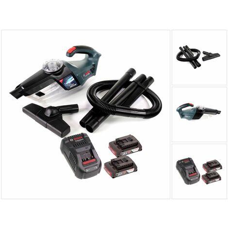 Bosch GAS 18V-1 Professional Li-Ion Aspirateur à Main sans fil + 2x Batteries GBA 2,0 Ah + Chargeur GAL 1880 CV