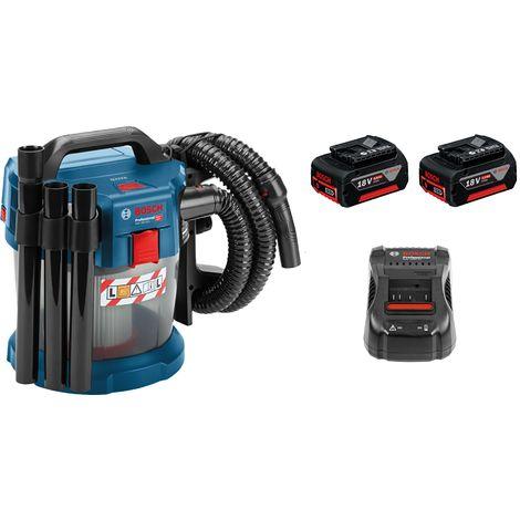 Bosch GAS 18V-10 Litio-ion 18V Juego de aspiradora en seco y húmedo (batería 2x 5.0Ah) - 10L