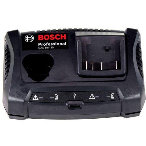 Bosch GAX 18 V-30 Professional Cargador doble para baterías de 10,8 / 12 V y 14,4 / 18 V ( 1600A011A9 )