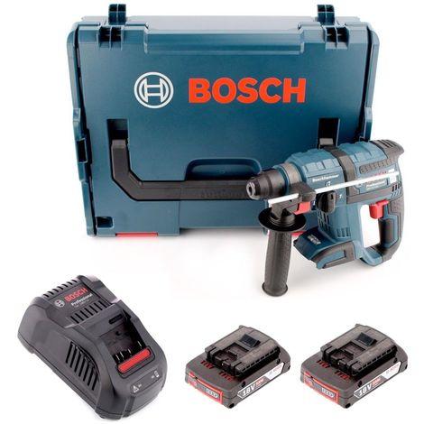 Bosch GBH 18 V-EC 18V 1.7J SDS plus Marteau perforateur sans fil sans balais + 2x Batterie 2.0 Ah + Chargeur + L-Boxx