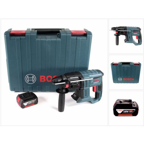 Bosch GBH 18V-20 Professional Perforateur sans-fil SDS-plus avec Boîtier de transport + 1x Batterie 4 Ah - sans Chargeur