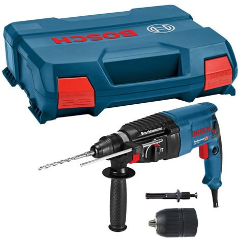 Bosch GBH 2-26 SDS+ Rotary Hammer Drill 240V 06112A3070 with 13mm Chuck & Adaptor:240V