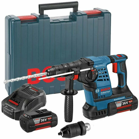 Bosch GBH 36 VF-LI Plus 36V SDS-Plus Hammer Drill 2x 6.0Ah Batteries