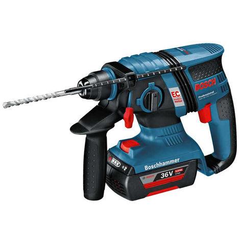 Bosch GBH 36V-EC 36v Rotary Hammer Drill In L-BOXX With 2 x 2.0Ah