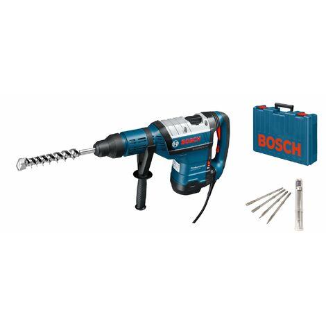 Bosch GBH 8-45 DV SDS-max martillo combinado en estuche de 4 piezas de cincel - 1500W - 12.5J