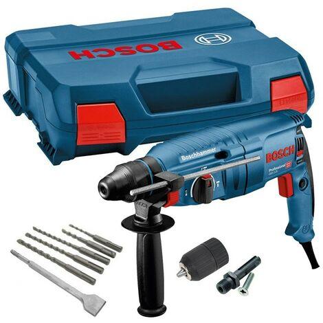 Bosch GBH225D 110v SDS+ SDS PLUS Rotary Hammer Drill + SDS Bits Chisel + Chuck