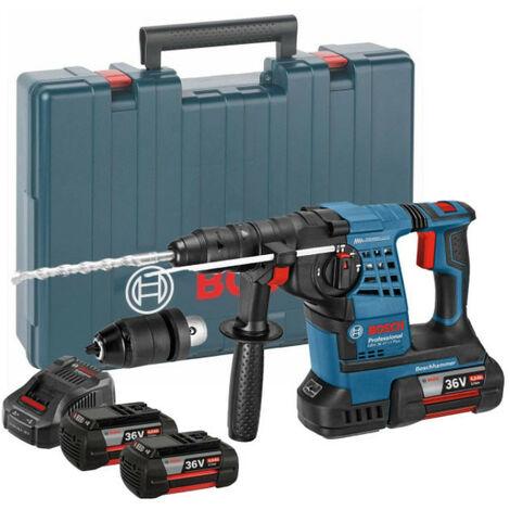 Bosch GBH36VF-LI Plus 36V SDS+ Rotary Hammer 3 x 4Ah Batteries
