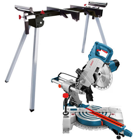 "Bosch GCM800SJ 110V 216mm 8"" Single Bevel Sliding Mitre Saw With Leg Stand"