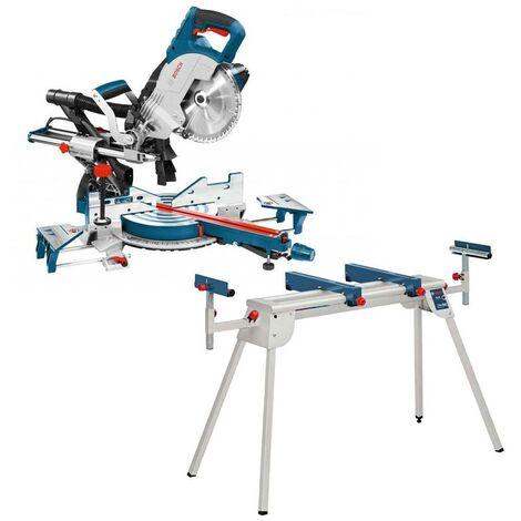 "main image of ""Bosch GCM8SJL 8"" Sliding Mitre Saw with Laser & Blade 240v + GTA2600 Leg Stand"""