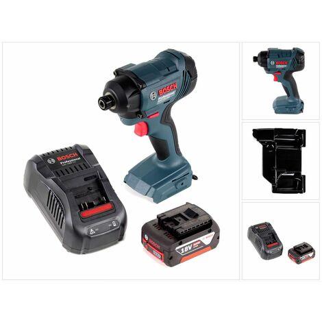 "Bosch GDR 18V-160 Llave de impacto a batería 18V 1/4"" + 1x Batería 5,0 Ah + Cargador GAL 1880 CV + Bandeja para L-BOXX - Sin maletín incluido"