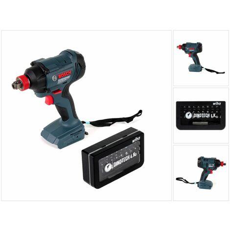Bosch GDX 18 V-180 Professional Llave de impacto a batería 18V + Juego de puntas Wiha Dinotech Edition 31 unidades - Sin batería, sin cargador incluidos