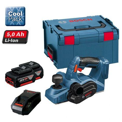 Bosch GHO 18 V-LI 18v Cordless Planer Li-Ion + 2 x 5.0ah Battery, Charger +LBOXX