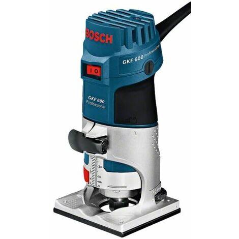 Bosch GKF 600 Fresadora de cantos + accesorios extra en maletín - 600W - 6-8mm