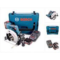 Bosch GKS 18 V-57 G Professional Akku Kreissäge mit 2x GBA 5,0 Ah Akkus, 1x GAL 1880 CV Ladegerät und L-Boxx ( 06016A2100 )