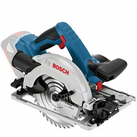 Bosch GKS 18V-57 G 18V Batería de iones de litio circular fijada (batería 2x 5.0Ah) en L-Boxx - 165mm