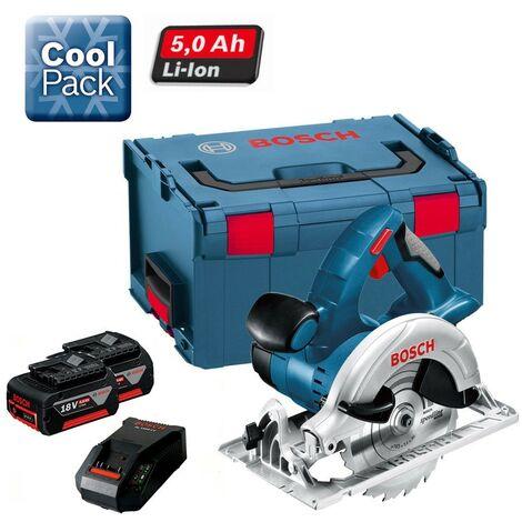 Bosch GKS 18VLI 18v Cordless Circular Saw 2 x 5.0ah Battery, Charger + LBOXX