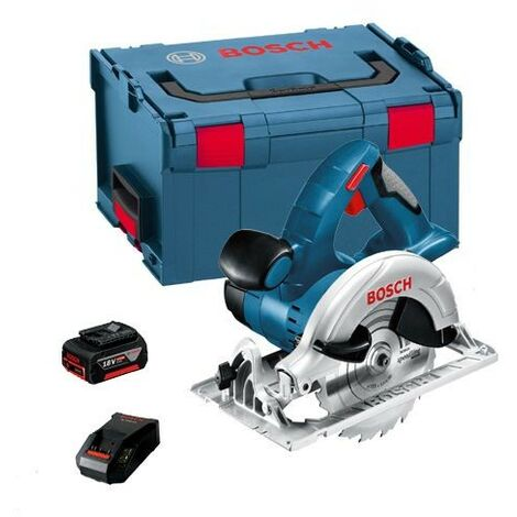Bosch GKS 18VLI 18v Cordless Circular Saw Li-Ion + 5.0ah Battery Charger + LBOXX