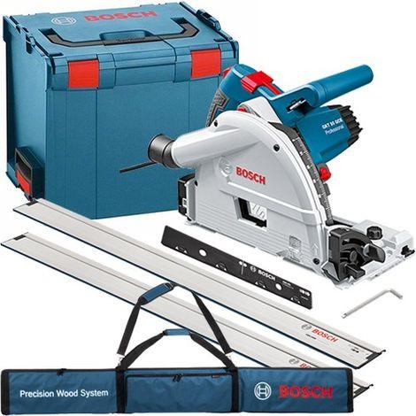 Bosch GKT 55 GCE 240V 165mm Plunge Saw and FSN Guide Rail Kit:240V