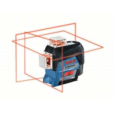 Bosch GLL 3-80 C Professional Laser lignes, avec 1 batterie Li-Ion 2,0 Ah, assortiment d'accessoires