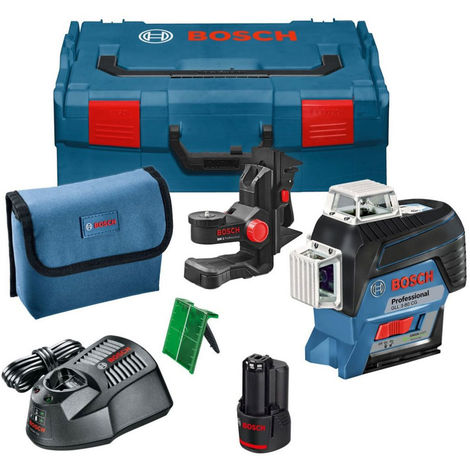 Bosch GLL 3-80 CG 12V Professional Green Line Laser with 1 x 2.0Ah Battery in L-Boxx