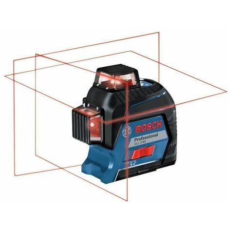 Bosch GLL 3-80 Livella Laser a 3 Linee 360 Gradi in Valigetta con Batterie e Set Accessori