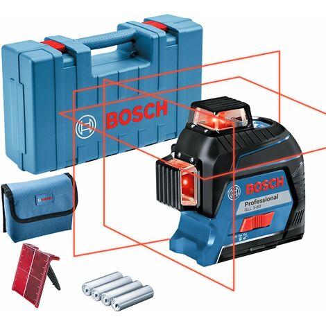 Bosch GLL 3-80 - Niveau laser - lignes croisées - avec étui et plus - 40 m