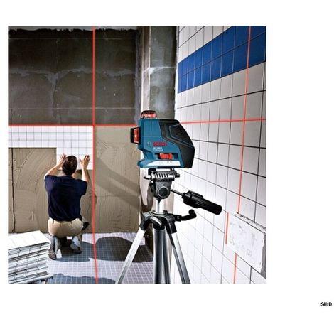 Bosch GLL 3-80 Professional Laser lignes laser plan multifonction + Support universel BM 1